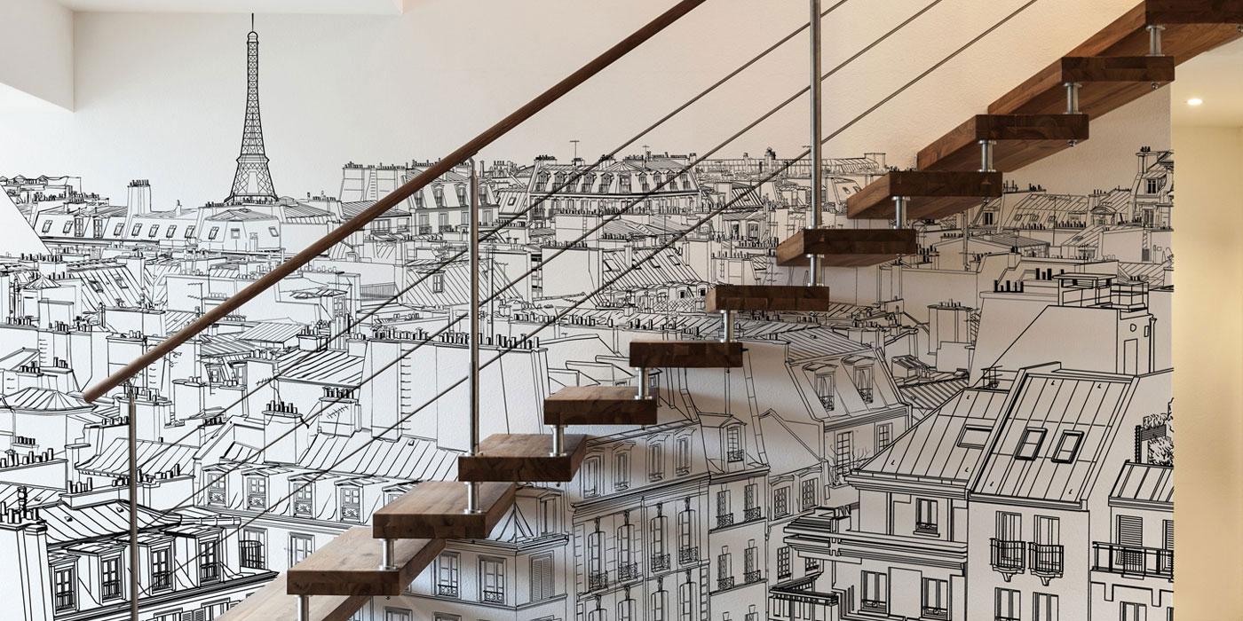 les types de papier peint papier ludique. Black Bedroom Furniture Sets. Home Design Ideas